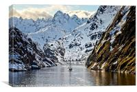 Entering Trollfjord Norway, Canvas Print