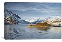 Norwegian Coastal Landscape, Canvas Print