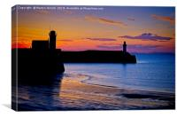 West Coast Sunset - Whitehaven, Canvas Print