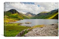 Great Gable and Wastwater, Canvas Print