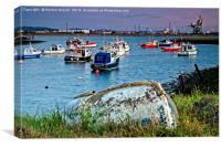 Paddy's Hole at South Gare Evening Light, Canvas Print