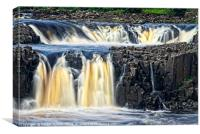 Low Force Waterfall Close-up, Canvas Print