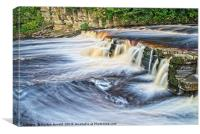 River Swale at Richmond, North Yorkshire, Canvas Print