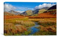 Wasdale Mountains in Autumn, Canvas Print