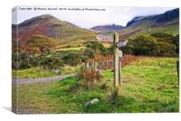 Footpath from Wast Water to Scafell Pike, Canvas Print