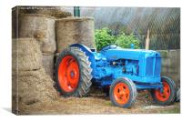 Blue Tractor, Canvas Print