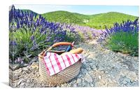Picnic and French lavender, Canvas Print