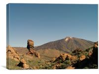 Mount Teide and Rock Formation, Canvas Print