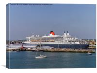 Queen Mary 2 in Southampton Harbour, Canvas Print