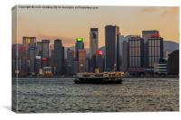 Star Ferry in Hong Kong Harbour, Canvas Print