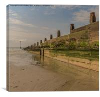 Breakwater at West Wittering, Canvas Print