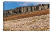 Stanage Edge in the Peak District, Canvas Print