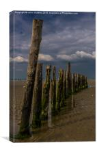 Breakwater at West Wittering , Canvas Print