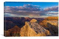 Sunset in the Grand Canyon - South Rim, Canvas Print