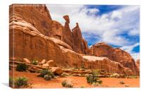 Landscape in Arches National Park, USA, Canvas Print