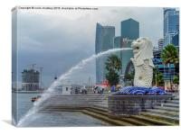 The Merlion of Singapore City, Canvas Print