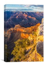 Sunset in the Grand Canyon - Southern Rim, Canvas Print