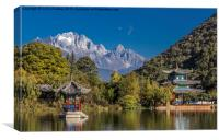 Black Dragon Lake Pagodas - Lijiang, China, Canvas Print