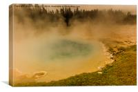 Artists Paint Pots - Yellowstone National Park, Canvas Print