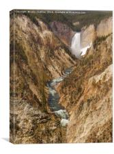 Yellowstone National Park - Lower Falls, Canvas Print