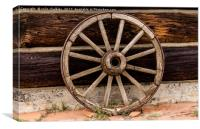 Old Wagon Wheel - Cody, Wyoming, Canvas Print