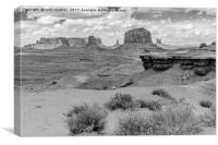 A Lone Horseman in Monument Valley, Canvas Print
