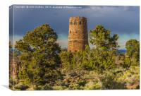 Desert View Watch Tower - Grand Canyon, Canvas Print