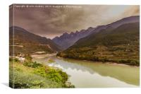 First Bend of the Yangtze River, China, Canvas Print