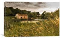 Sturminster Mill on a cloudy day, Canvas Print