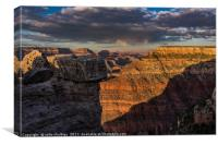 Grand Canyon -  Sunset, Canvas Print