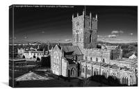 St Davids Cathedral and Palace, Canvas Print
