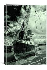 High and Dry at Goodwick Harbour, Canvas Print