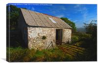 Wriggly Tin: Gwaun Valley Barn, Canvas Print