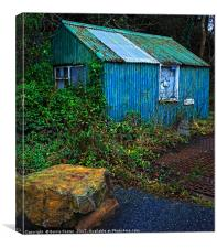 Wriggly Tin: The Weighing Station, Middle Mill, Canvas Print