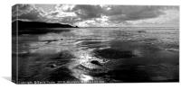 Newgale Reflections, Canvas Print