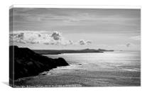 St Davids Head from above Pwllderi, Canvas Print
