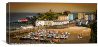Sunset at Tenby Harbour, Canvas Print