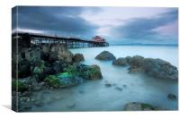 Mumbles pier and lifeboat station, Canvas Print