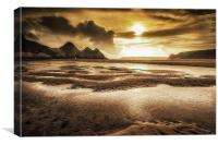 Three Cliffs Bay Gower, Canvas Print