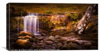 Pen-y-fan waterfall, Canvas Print