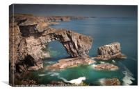 The Green Bridge of Wales, Canvas Print
