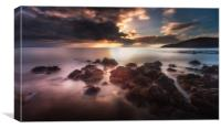 Dramatic Rotherslade Bay, Canvas Print