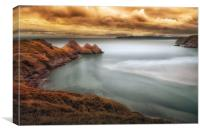 Tranquil Three Cliffs Bay, Canvas Print