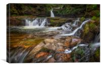 Waterfall country South Wales, Canvas Print