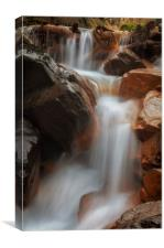 Melincourt Brook waterfall, Canvas Print