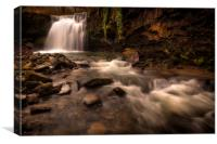 Brecon waterfall South Wales, Canvas Print