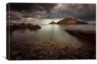 Rough weather over Mumbles lighthouse, Canvas Print