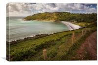 The path to Pwll Du bay, Canvas Print