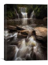 Penllergare Woods waterfall, Canvas Print