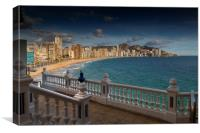 Benidorm skyline, Canvas Print